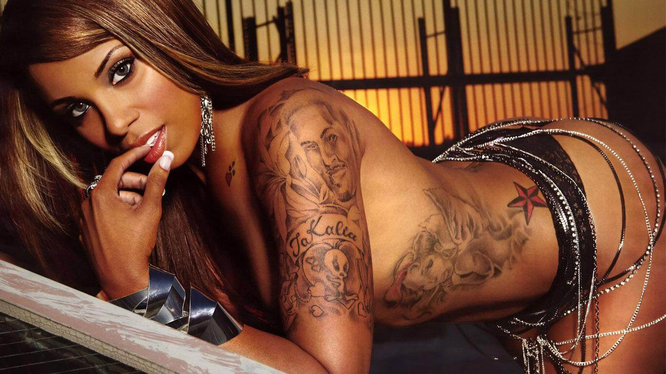 Pornstar with rib tattoos good idea