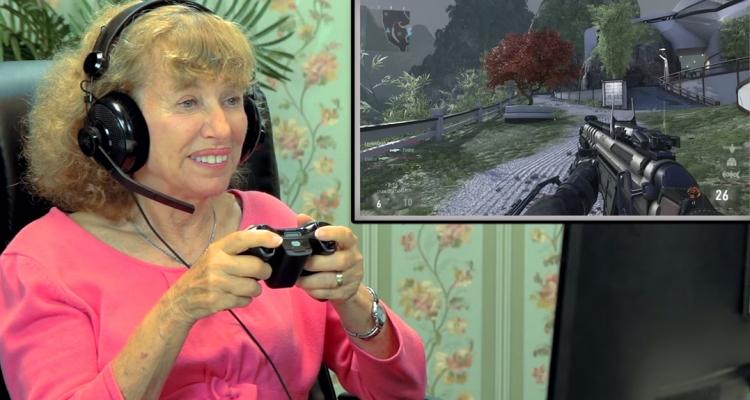 Elders play Call of Duty