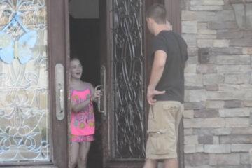 Kids Opening The Door
