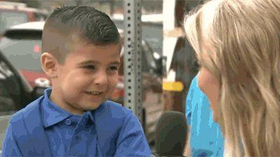 little boy cry