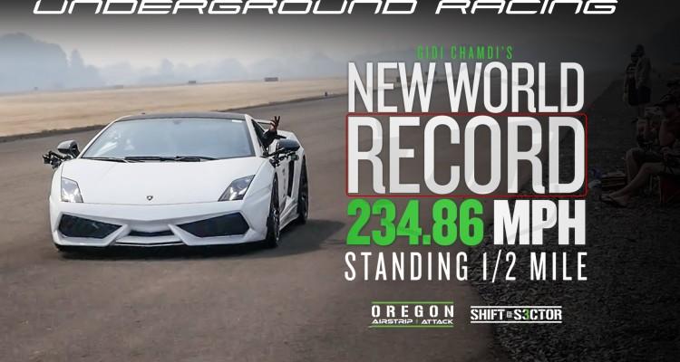 underground racing New World Record