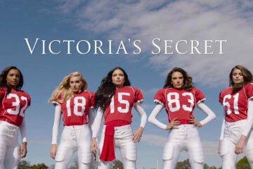 Super Models Play Football Victoria Secret