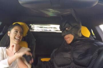 Batman Lamborghini Uber Prank