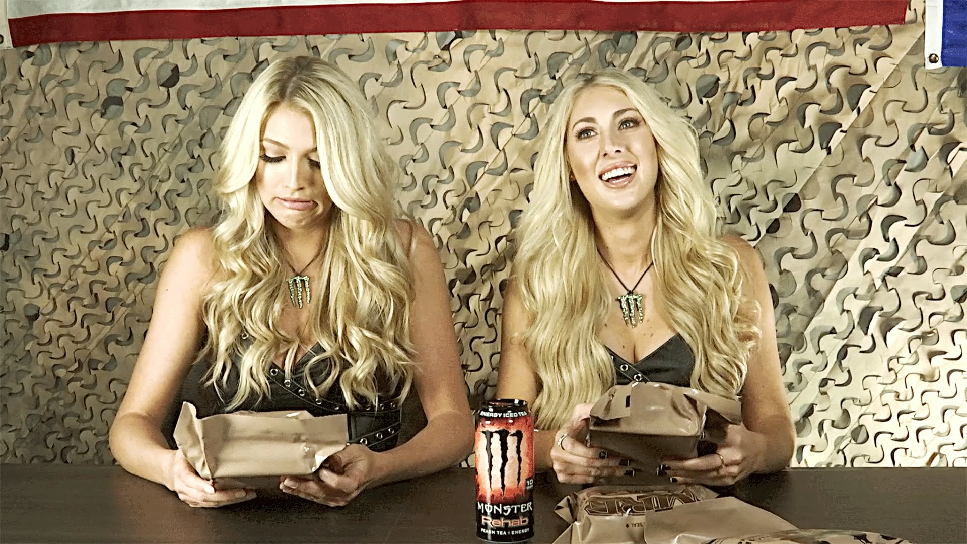 monster energy girls try military food badchix magazine. Black Bedroom Furniture Sets. Home Design Ideas