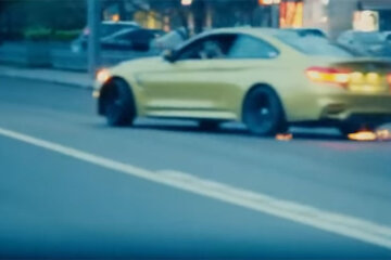 BMW M4 Crazy Moscow City Driving