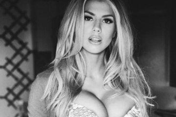 Charlotte McKinney in lingerie black and white