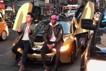Coby Persin's Gold BMW I8 Got Smacked In New York