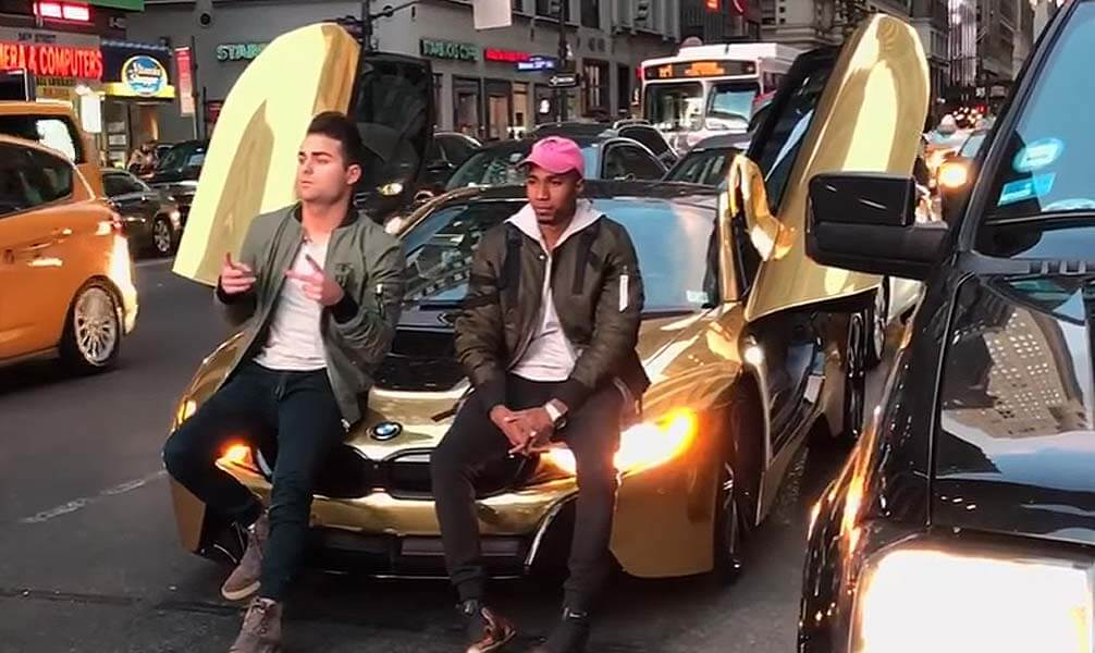 Coby Persin S Gold Bmw I8 Got Smacked In New York Bad Magazine