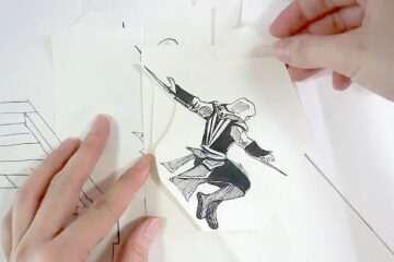 Assassin's Creed Cartoon Paper ArtParkour 1