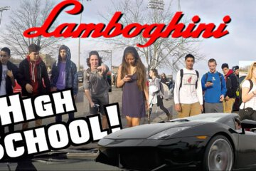 17 Year Old One Brings His Lamborghini to High School