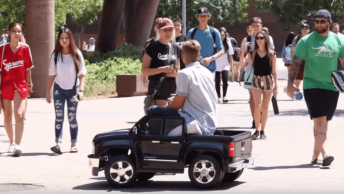 Picking Up Girls in a Toy Car