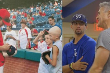 Cancer Survivor Who Met Baseball Hero as a Kid Now Plays for Same Organization 1