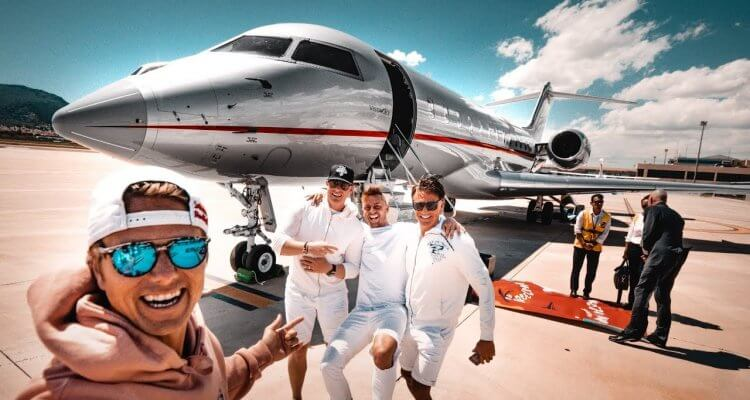 The Epic Bachelor Party of Jon Olsson with a $60 000 000 Private Jet 1