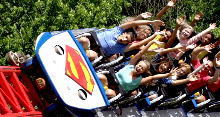 Guy Passes out on Superman Ride at Six Flags 1
