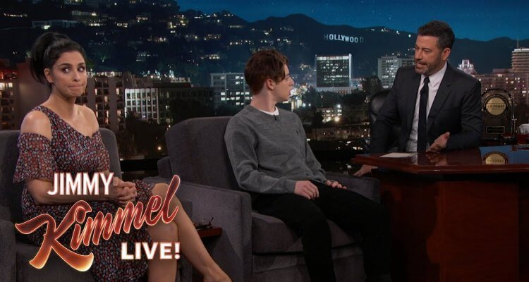 Sarah Silverman Surprises Jimmy Kimmel with a Halloween-Candy-Kid-Guest 1