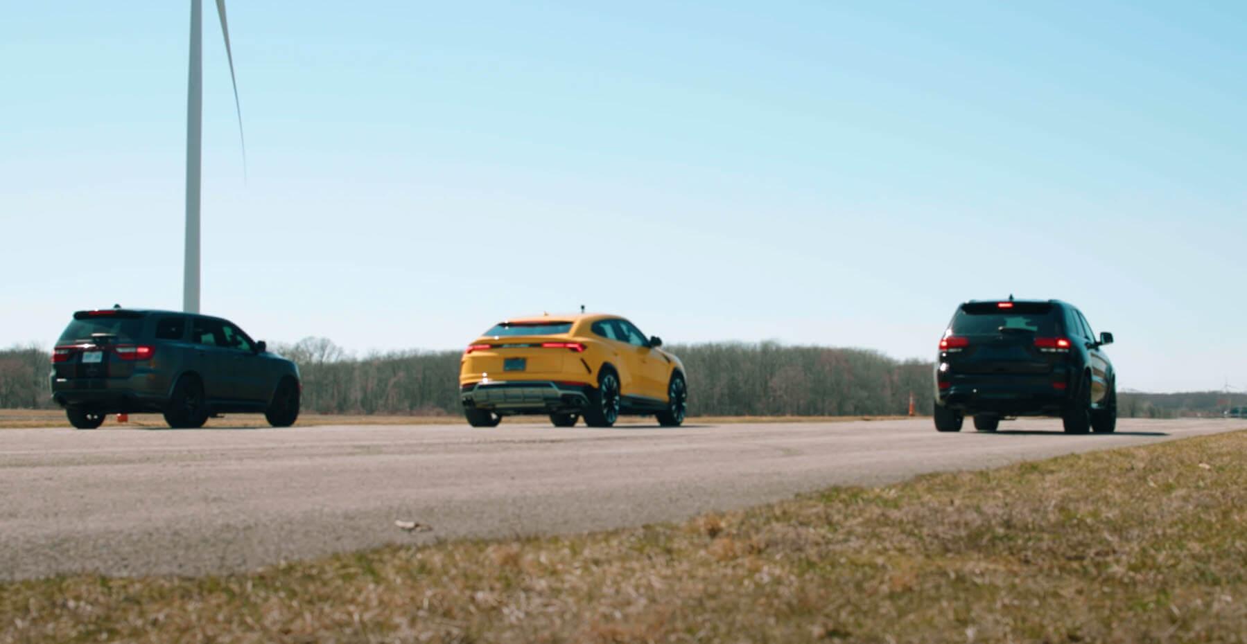 Dodge Durango Hellcat vs Lamborghini Urus vs Jeep Trackhawk